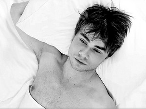Alexander Rybak shirtless and sexy in black and white