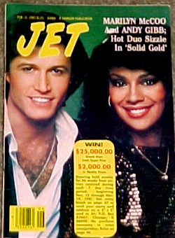 Andy Gibb And Mariyn McCoo On The Cover Of Jet