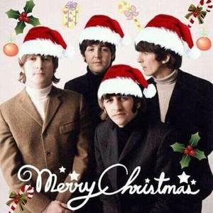 Beatles pasko Card