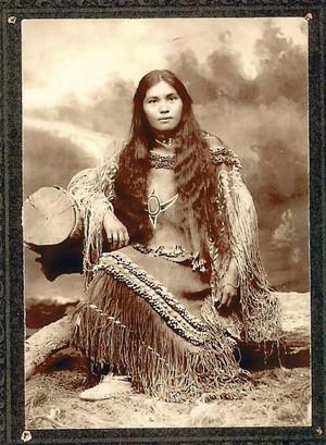 Elsie Vance Chestuen (Chiricahua) at Fort Sill
