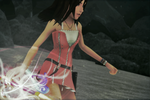 Hope Kairi chan is playable in KH3.Some super 담홍색, 핑크 girlie power YAY