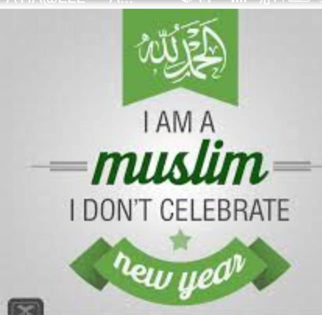 I AM A MUSLIM I DON'T CELEBRATE NEW 年