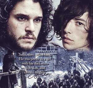 Jon Snow and Satin bunga
