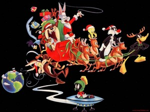 Looney Tunes Christmas پیپر وال