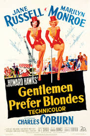 Movie Poster 1953 Film, Gentleman Prefer Blondes