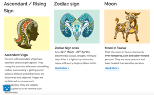Rising Sign + Sun Sign + Moon Sign