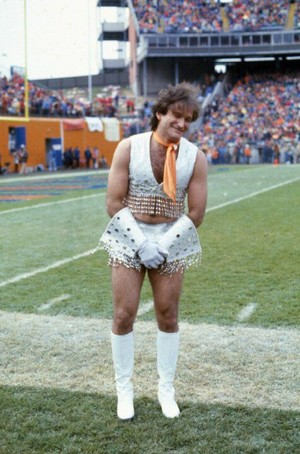 Robin Williams as a Denver Broncos cheerleader for Mork and Mindy (1980)