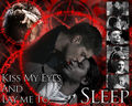 Sam/Dean Wallpaper - Kiss My Eyes - wincest fan art