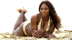 Serena Williams On The ビーチ
