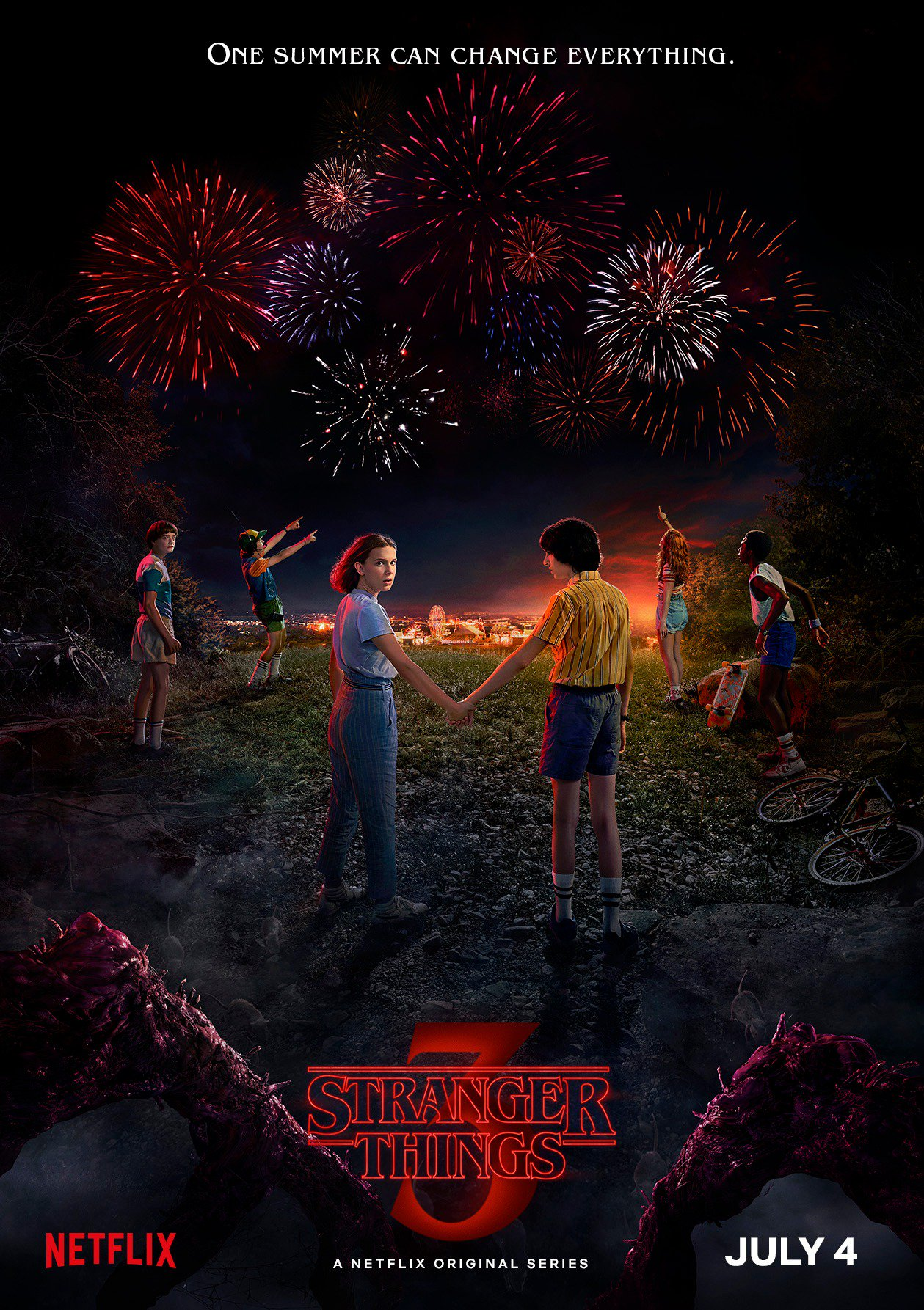 Stranger Things 3 Poster - One summer can change everything.