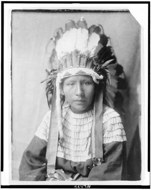 The daughter of Bad ngựa (Cheyenne) Curtis - 1905