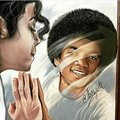The man (and/or boy) in the mirror - michael-jackson fan art