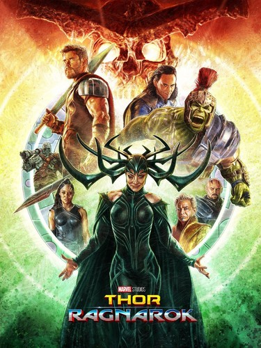 Thor: Ragnarok wallpaper titled Thor Ragnarok Poster - Created oleh Neil Davies