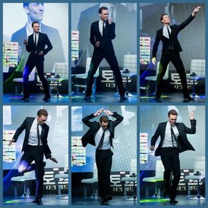 Tom Hiddleston dance moves
