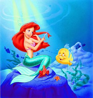 Walt Disney Images - Princess Ariel, Sebastian & Flounder