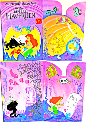 Walt Дисней Обои - The Little Mermaid: 1990 McDonald's Happy Meal Box