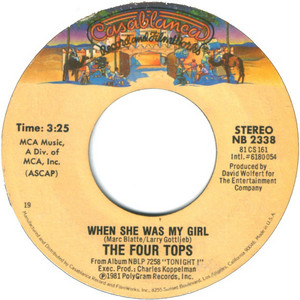 When She Was My Girl On 45RPM