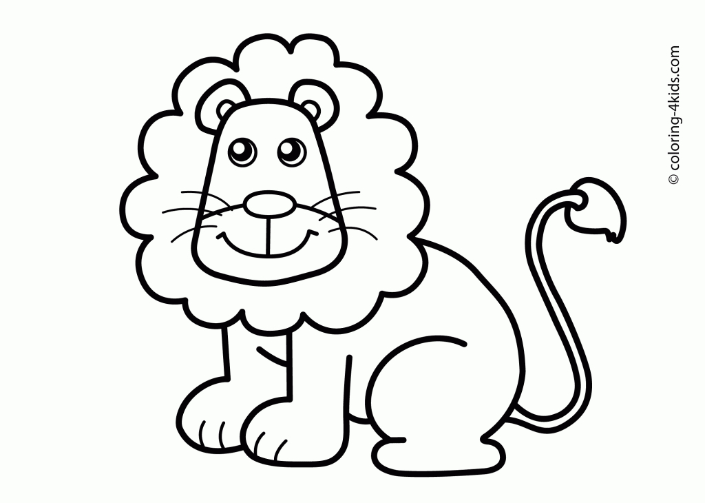 Animal Drawings For Kids To Color