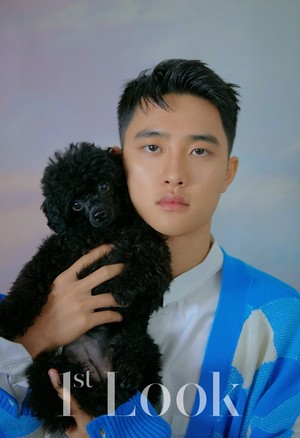 1st Look magazine with their pet Hunde