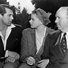 Classic Movies photo called Alfred Hitchcock with Cary and Ingrid
