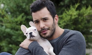 Baris Arduc with a french bulldog