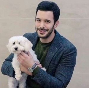 Baris Arduc with a small puppy