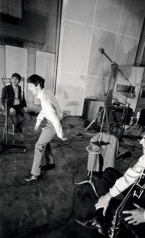 Beatles at Abbey Road studio