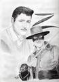 Guy Williams As Zorro - disney fan art