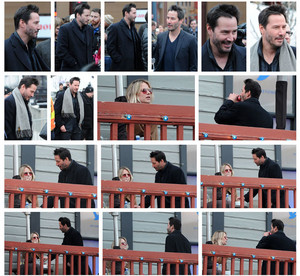 Keanu Reeves Looks Dapper In winter Scarf