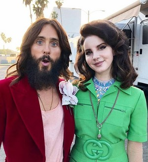 Lana and Jared behind the scenes