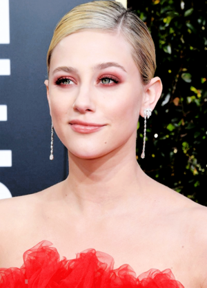 Lili Reinhart attends the 76th Annual Golden Globe Awards at The Beverly Hilton Hotel in Los Angeles