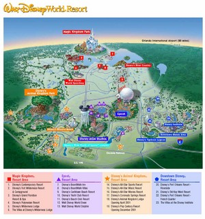 Map Of Disneyworld
