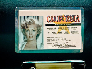 Marilyn's Old Driver's License