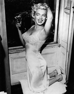 Marilyn Blowdrying Her Hair