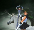 Sailor Pluto rides on her Beautiful Unicorn 骏马