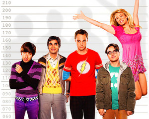 The Big Bang Theory karatasi la kupamba ukuta