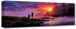 Walt Disney Art - Lilo & Stitch: A Song At Sunset (Giclée on Canvas by Rodel Gonzalez)