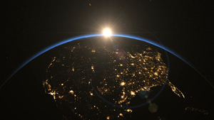 sunrise over usa the united states from 宇宙 clip contains earth usa us sunrise 宇宙 night light c