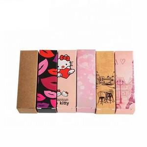 Cardboard lip gloss packaging boxes