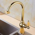 Contemporary Electroplated Polished Brass Standard Spout Kitchen Faucet - fine-art photo