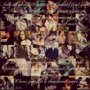 """Edward and Bella """"A Thousand Years"""""""