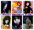 Happy Birthday Paul ~January 20, 1952 - kiss photo
