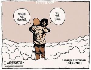 John greets George in Heaven