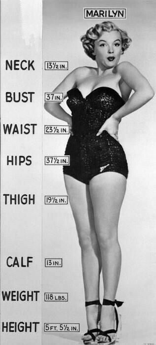 MarilyMarilyn's Measurements