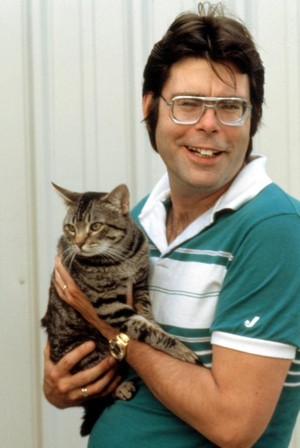 Stephen King And His Cat
