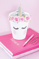 pink unicorn gold planter - unicorns photo