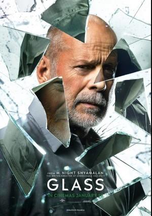 Bruce Willis as David Dunn Glass 2019