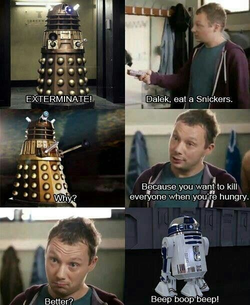 Dalek 'Snicker's' Ad *lol!*