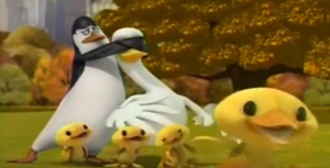 Kowalski Covers The Mother Duck's Eyes