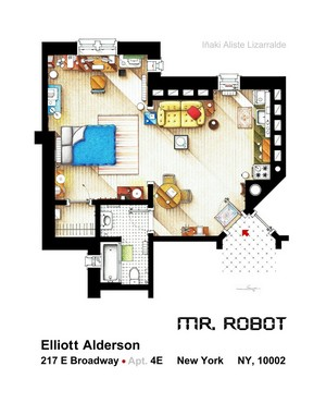 Mr. Robot apartment